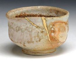 When the Japanese mend broken objects they aggrandize the damage by filling the cracks with gold, because they believe that when something's suffered damage and has a history it becomes more beautiful